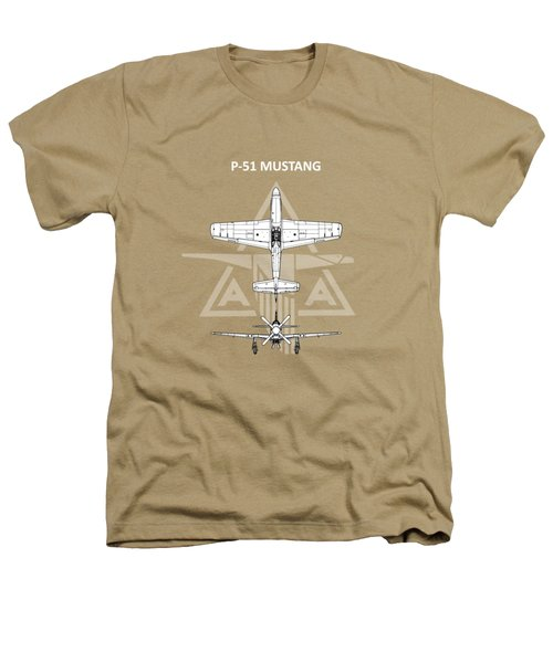 P-51 Mustang Heathers T-Shirt by Mark Rogan