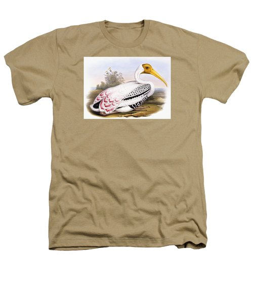 Painted Stork Heathers T-Shirt by John Gould