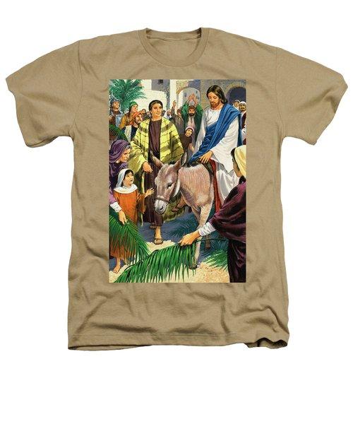 Palm Sunday Heathers T-Shirt by Clive Uptton