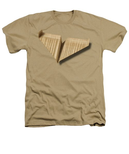 Paper Airplanes Of Wood 8 Heathers T-Shirt by YoPedro