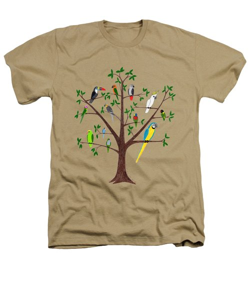 Parrot Tree Heathers T-Shirt by Rita Palmer