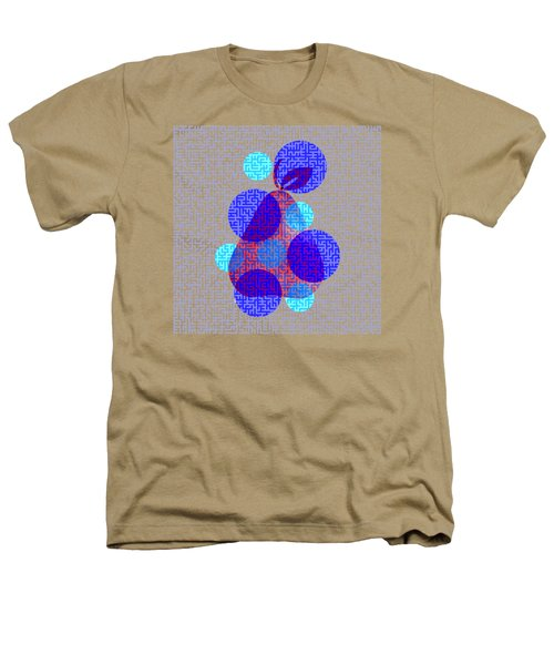 Pear In Blue Heathers T-Shirt by Coco Des