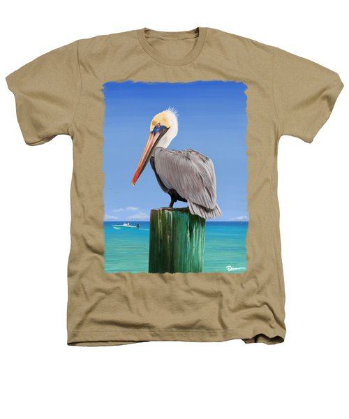 Pelicans Post Heathers T-Shirt by Kevin Putman