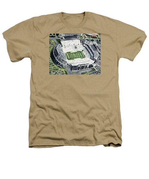 Penn State Beaver Stadium Whiteout Game University Psu Nittany Lions Joe Paterno Heathers T-Shirt by Laura Row