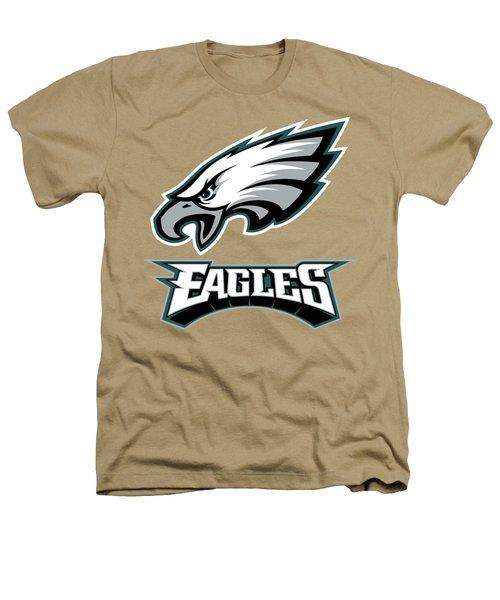 Philadelphia Eagles On An Abraded Steel Texture Heathers T-Shirt
