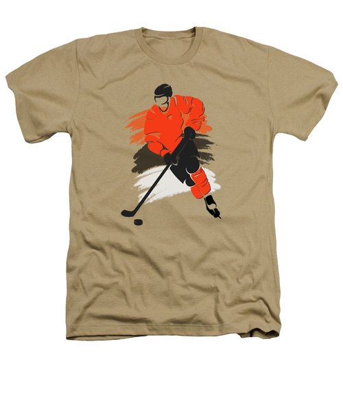 Philadelphia Flyers Player Shirt Heathers T-Shirt by Joe Hamilton