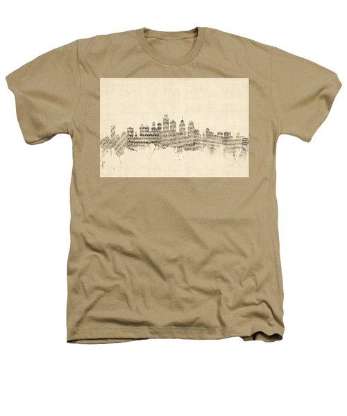 Philadelphia Pennsylvania Skyline Sheet Music Cityscape Heathers T-Shirt