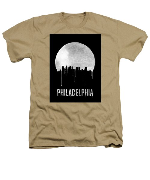 Philadelphia Skyline Black Heathers T-Shirt by Naxart Studio