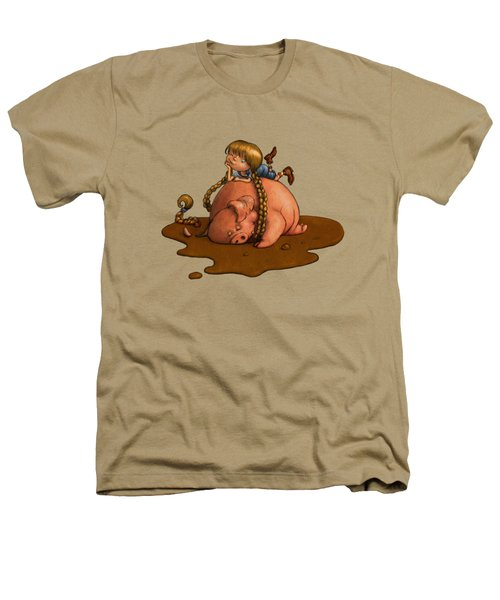 Pig Tales Heathers T-Shirt by Andy Catling
