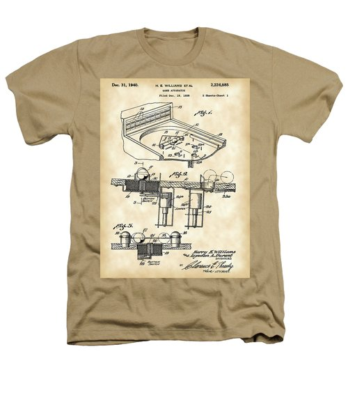 Pinball Machine Patent 1939 - Vintage Heathers T-Shirt by Stephen Younts