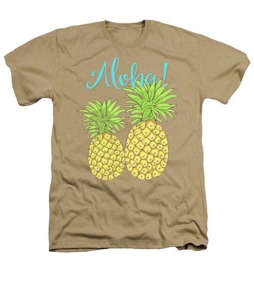 Pineapple Aloha Tropical Fruit Of Welcome Hawaii Heathers T-Shirt by Tina Lavoie