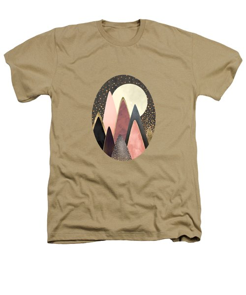 Pink And Gold Peaks Heathers T-Shirt