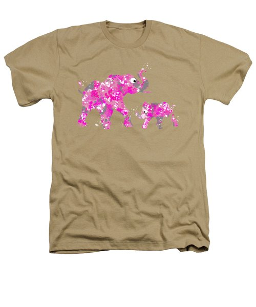 Pink Elephants Heathers T-Shirt by Christina Rollo