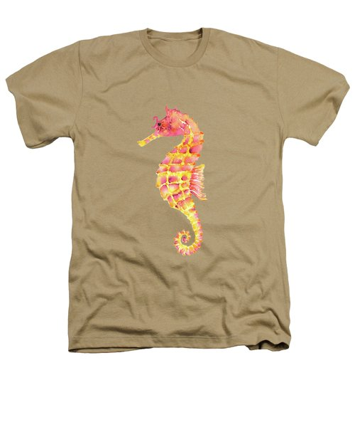 Pink Yellow Seahorse Heathers T-Shirt by Amy Kirkpatrick