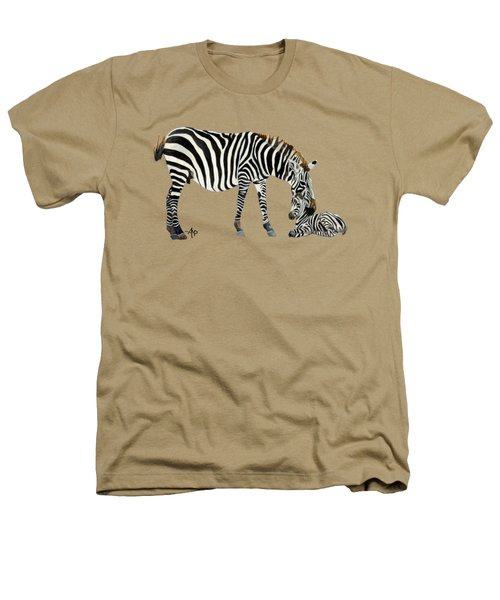 Plains Zebras Heathers T-Shirt by Angeles M Pomata