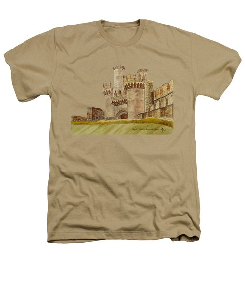 Ponferrada Templar Castle  Heathers T-Shirt by Angeles M Pomata