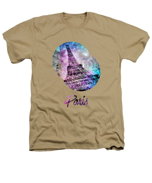 Pop Art Eiffel Tower Graphic Style Heathers T-Shirt by Melanie Viola