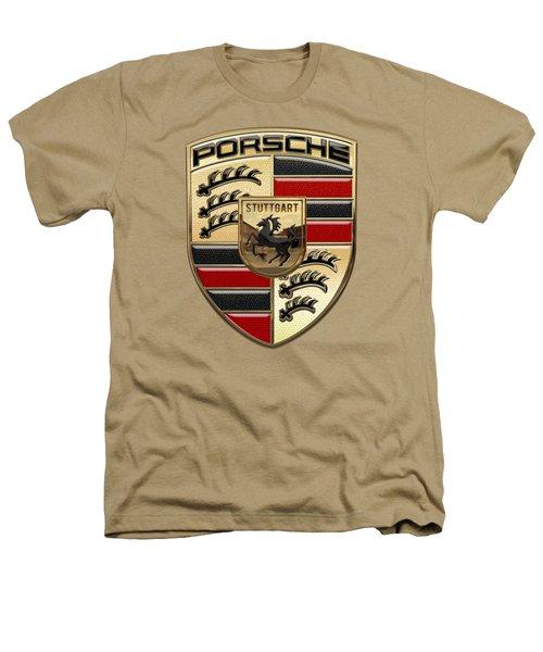 Porsche - 3d Badge On Yellow Heathers T-Shirt