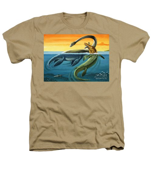 Prehistoric Creatures In The Ocean Heathers T-Shirt by English School