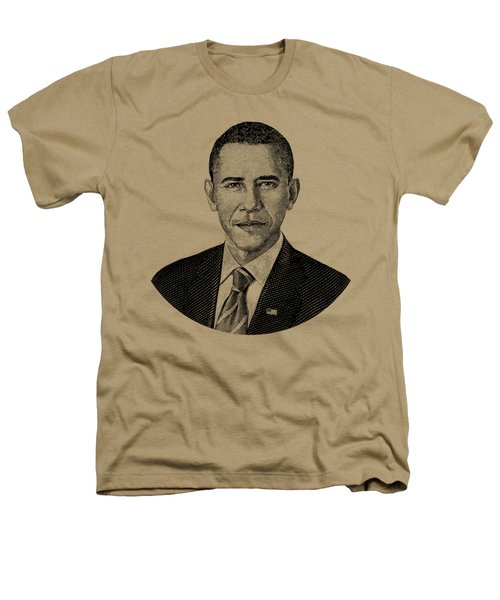 President Barack Obama Graphic Black And White Heathers T-Shirt by War Is Hell Store
