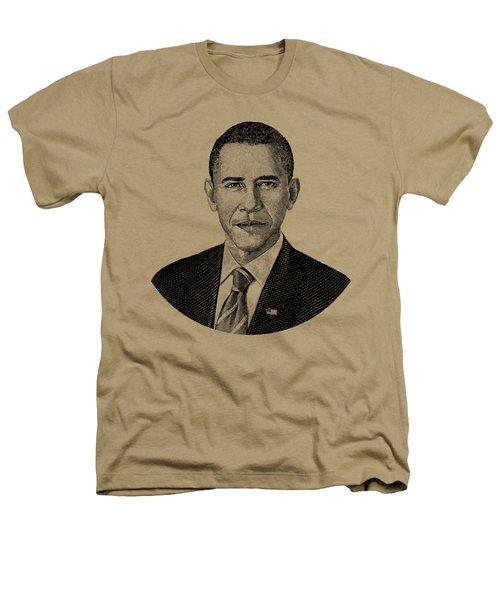 President Barack Obama Graphic Black And White Heathers T-Shirt