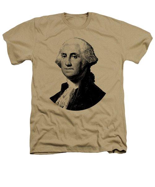 President George Washington Graphic - Black And White Heathers T-Shirt