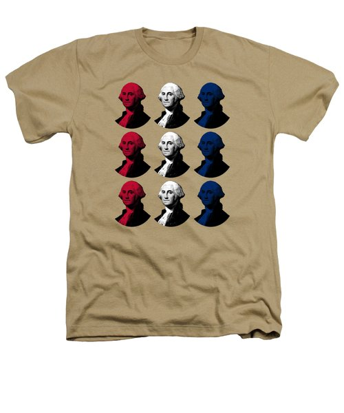 President George Washington - Red, White, And Blue  Heathers T-Shirt by War Is Hell Store