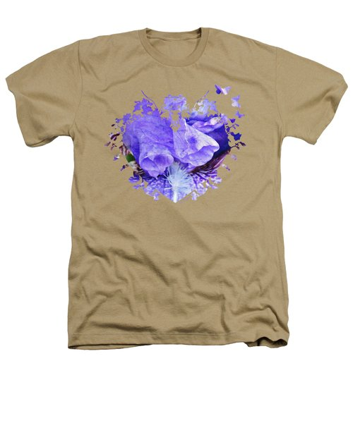 Pretty Purple Heathers T-Shirt by Anita Faye