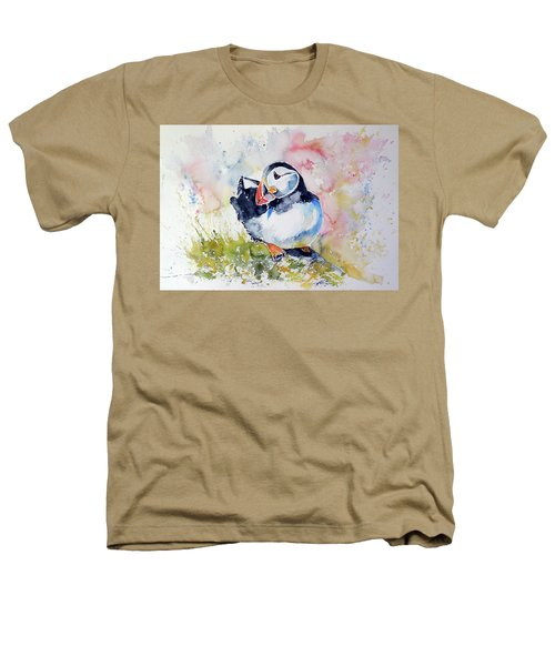 Puffin On Stone Heathers T-Shirt