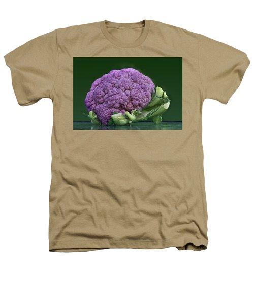 Purple Cauliflower Heathers T-Shirt by Nikolyn McDonald