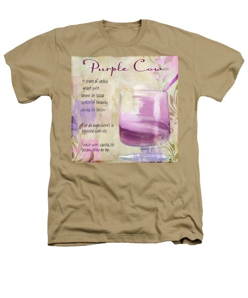 Purple Cow Mixed Cocktail Recipe Sign Heathers T-Shirt