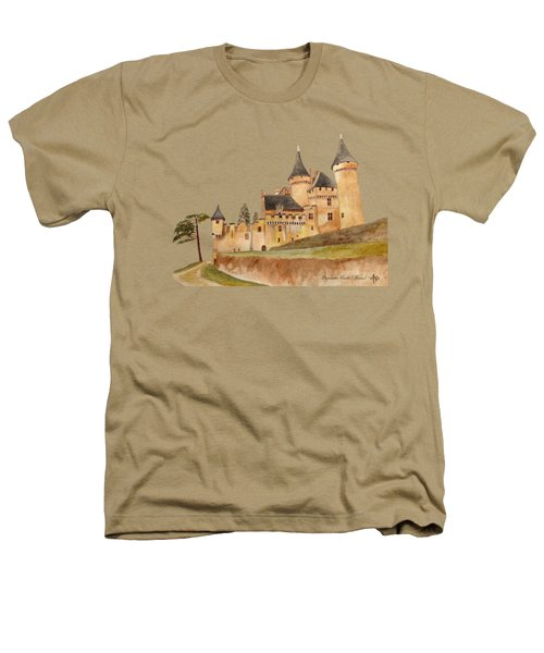 Puymartin Castle Heathers T-Shirt by Angeles M Pomata