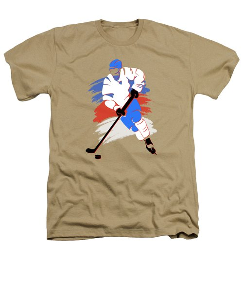 Quebec Nordiques Player Shirt Heathers T-Shirt by Joe Hamilton