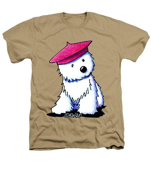 Raspberry Beret Westie Heathers T-Shirt by Kim Niles