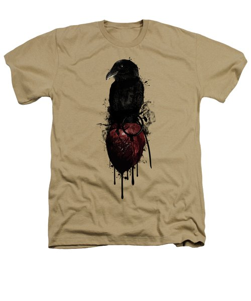 Raven And Heart Grenade Heathers T-Shirt by Nicklas Gustafsson