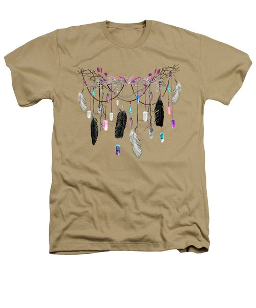 Raven Feathers And Roses Crystal Spirit Gazer Heathers T-Shirt
