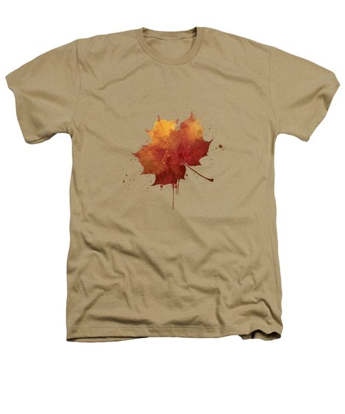 Red Autumn Leaf Heathers T-Shirt
