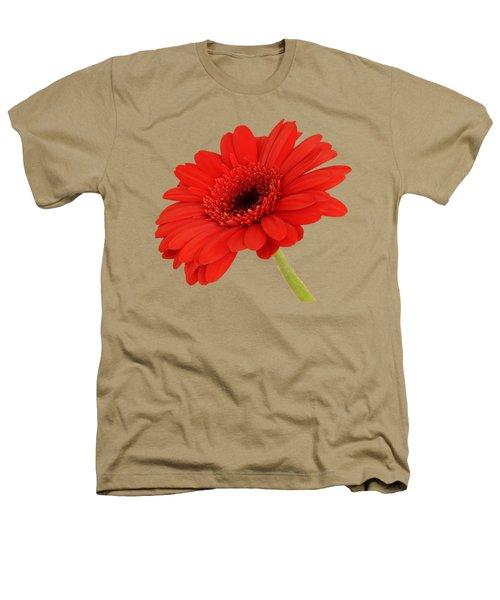 Red Gerbera Daisy 2 Heathers T-Shirt