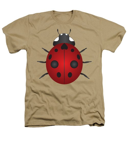 Red Ladybug Color Illustration Heathers T-Shirt by Jit Lim
