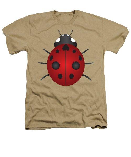 Red Ladybug Color Illustration Heathers T-Shirt