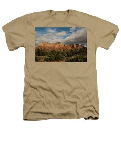 Red Rock Country Sedona Arizona 3 Heathers T-Shirt by David Haskett