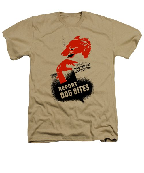 Report Dog Bites - Wpa Heathers T-Shirt