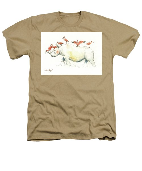 Rhino And Ibis Heathers T-Shirt by Juan Bosco