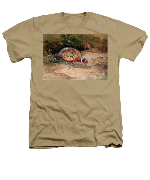 Ring Necked Pheasant Heathers T-Shirt by Joseph Wolf