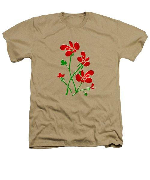 Rooster Flowers Heathers T-Shirt by Anastasiya Malakhova