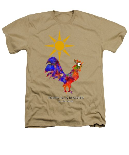 Rooster Pattern Aged Heathers T-Shirt by Christina Rollo