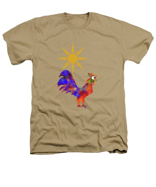 Rooster Pattern Heathers T-Shirt by Christina Rollo