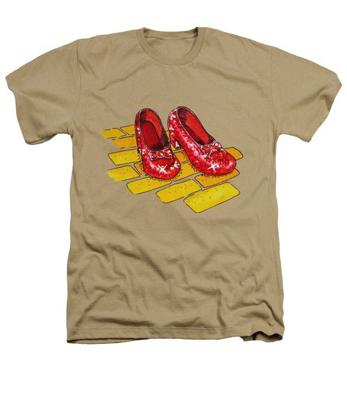 Ruby Slippers Wizard Of Oz Heathers T-Shirt by Irina Sztukowski