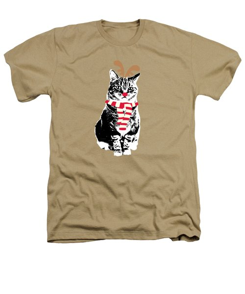 Rudolph The Red Nosed Cat- Art By Linda Woods Heathers T-Shirt by Linda Woods