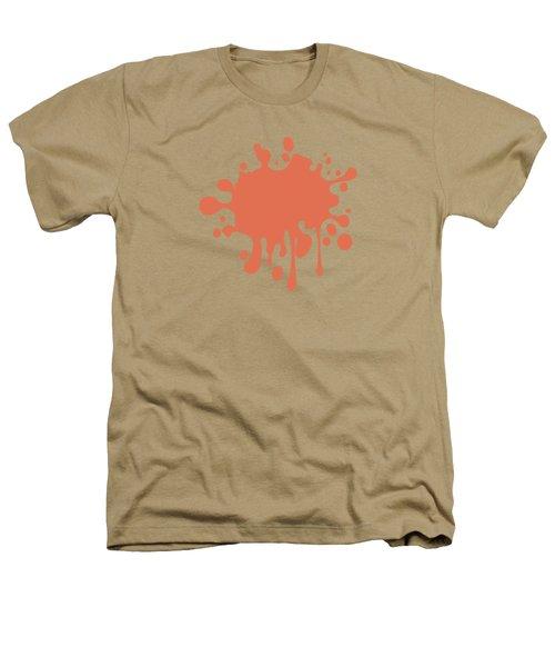 Salmon Color Accent Decor Heathers T-Shirt